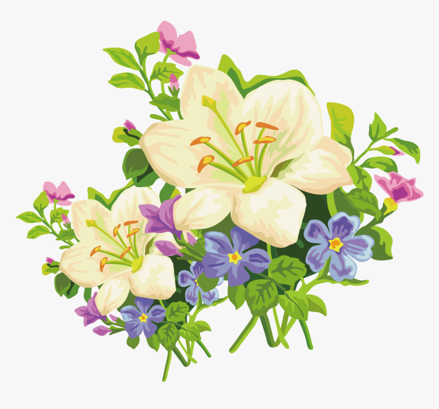 White lily clipart. Free download transparent .PNG | Creazilla