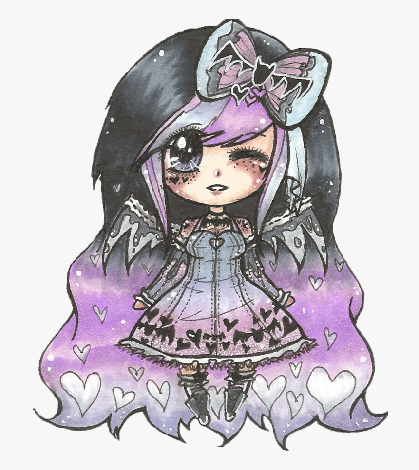 Pastel Goth Girl Chibi, HD Png Download , Transparent Png Image