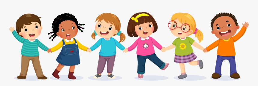 Kids Holding Hands Cartoon, HD Png Download , Transparent Png Image -  PNGitem