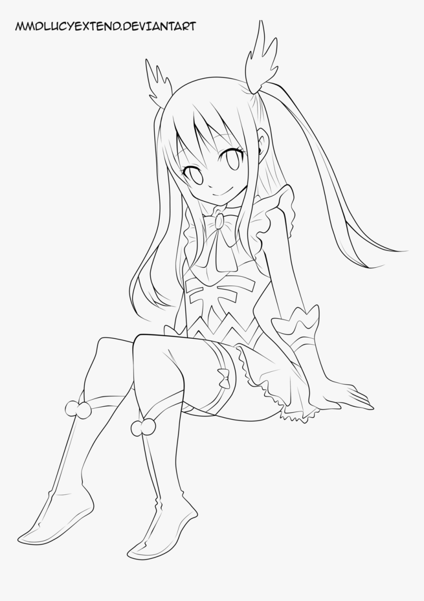 Transparent Anime Coloring Pages, HD Png Download , Transparent Png Image -  PNGitem
