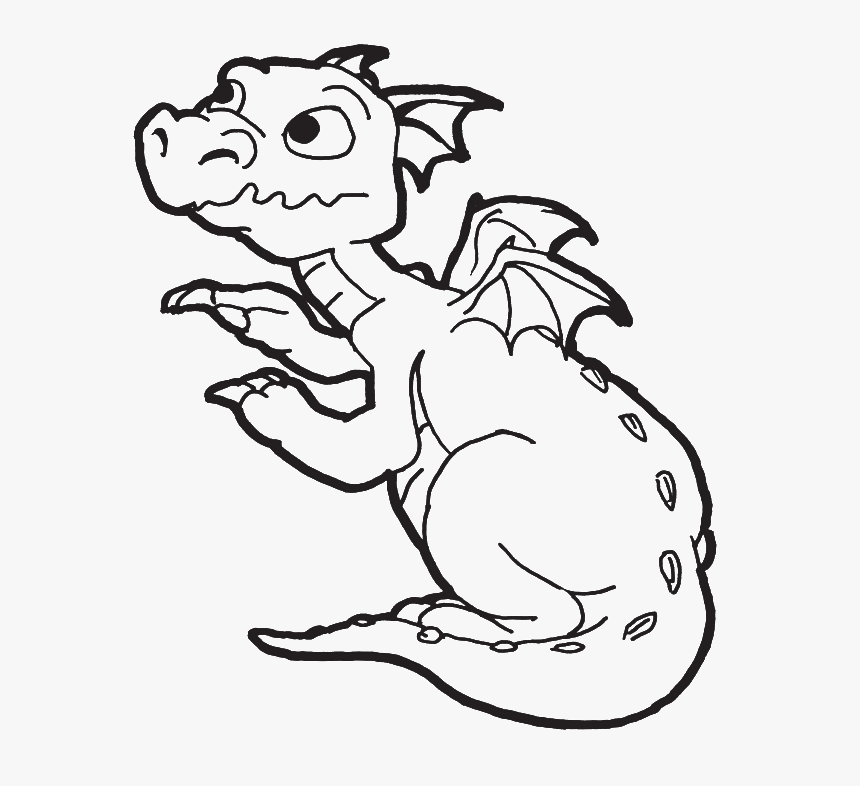 Dragons Coloring Pages For Kids Easy Dragon Coloring Pages Hd Png Download Transparent Png Image Pngitem