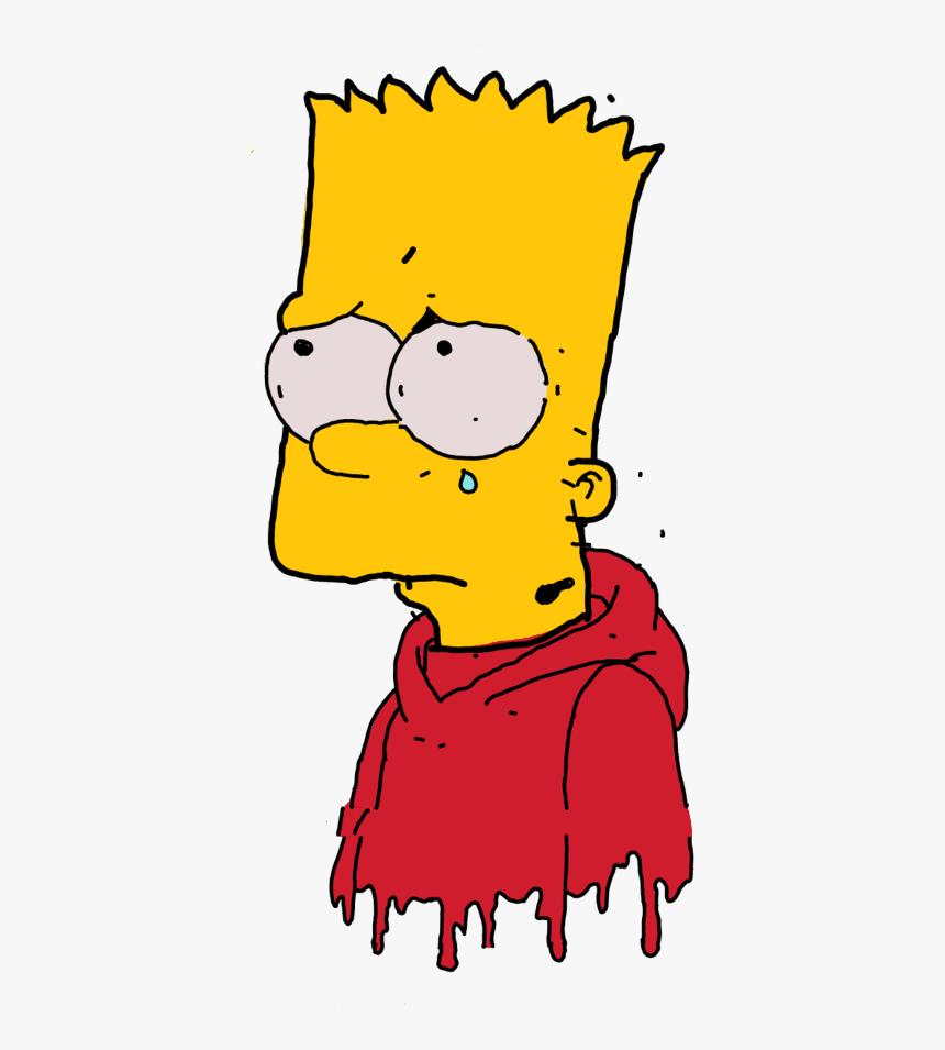 Freetoedit Simpsons Stickers Aesthetic Sad Cartoon Illustration Hd Png Download Transparent Png Image Pngitem