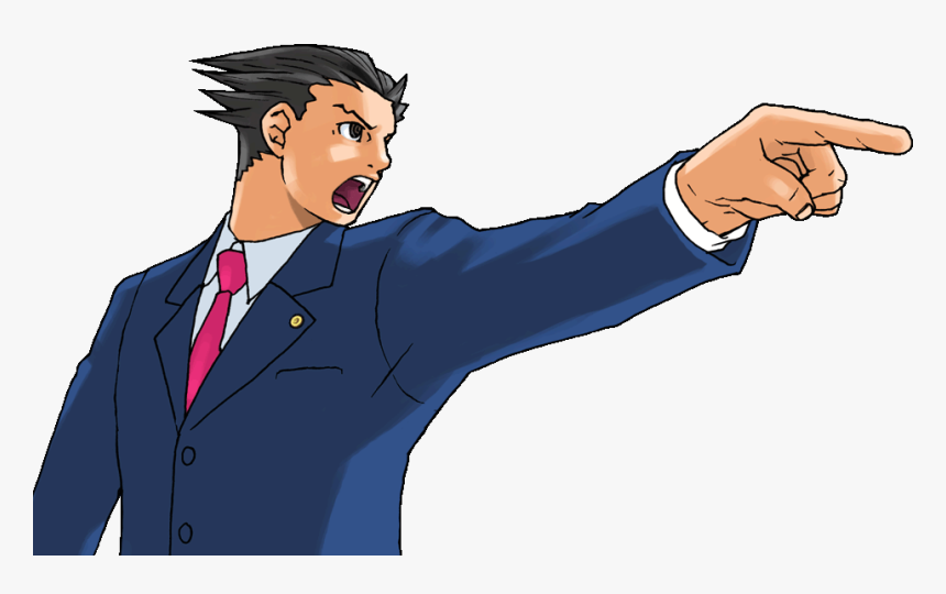 Phoenix Wright Objection Png Download Transparent Phoenix