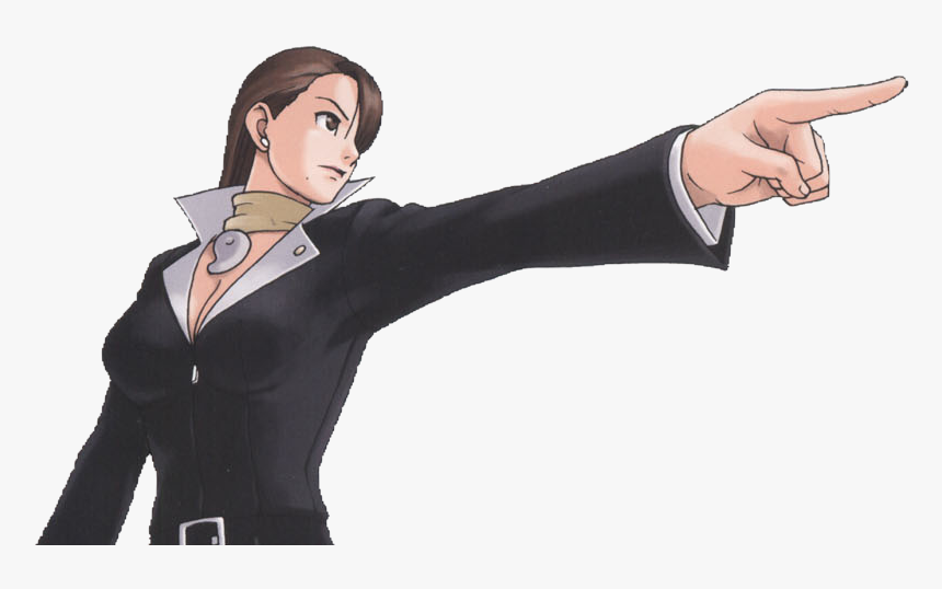 Ace Attorney Mia Objection Hd Png Download Transparent Png