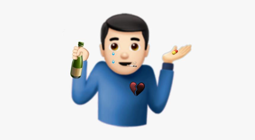 Emoji Aesthetic Grunge Edgy Trippy Rot Mine Shrug