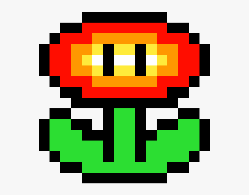 Super Mario Fire Flower Flower Minecraft Pixel Art Hd Png Download Transparent Png Image Pngitem