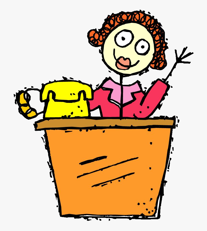 Super Tonic Music School   Secretary Cartoon Clipart, HD Png ...