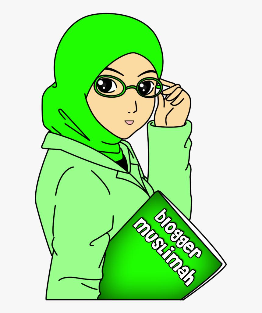 Top Gambar Kartun Muslimah Berkacamata Top Gambar Stiker