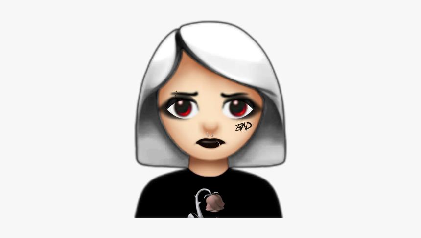 Emoji Aesthetic Grunge Edgy Trippy Rot Gothic Grunge