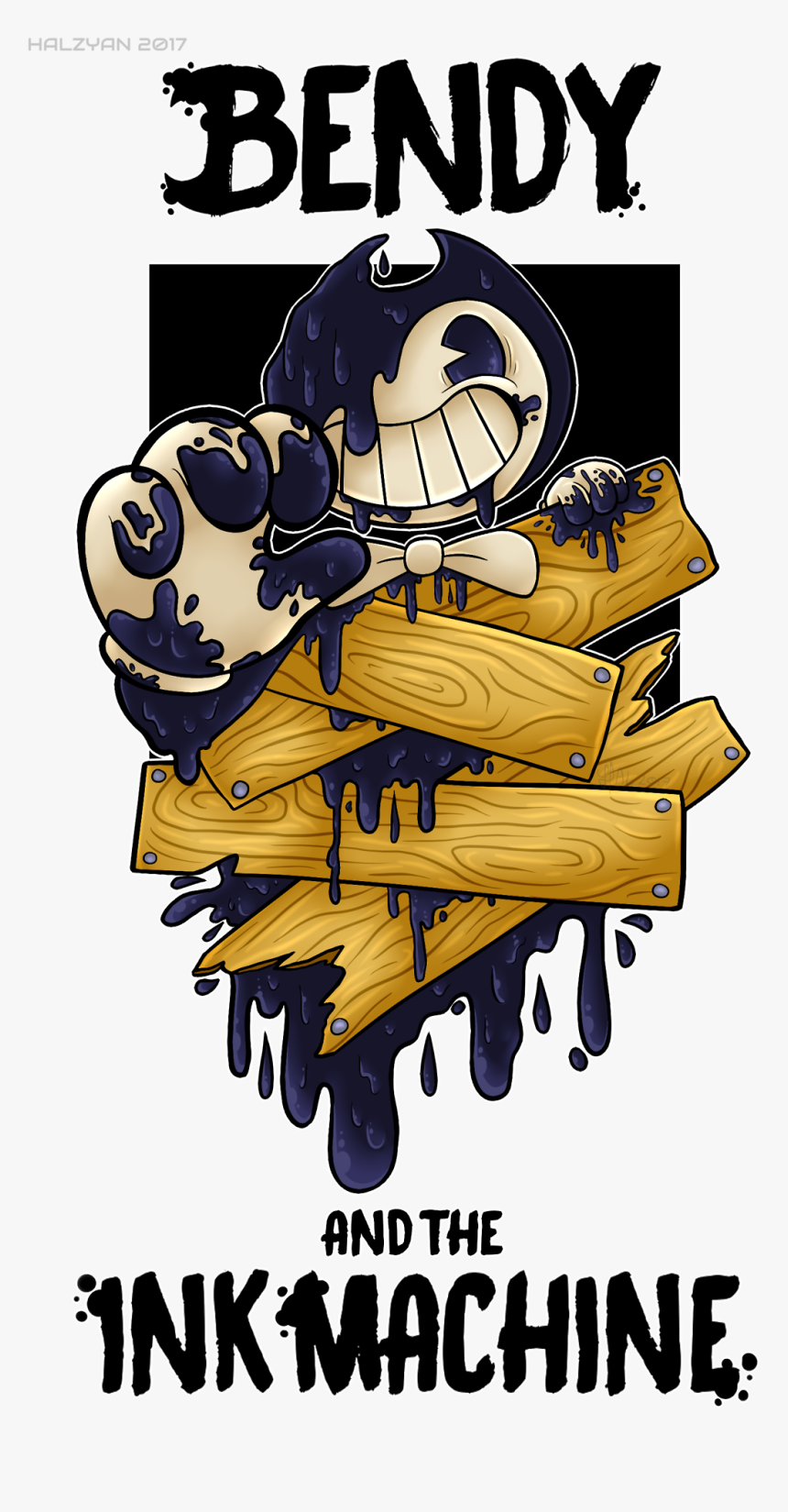 Bendy And The Ink Machine Wallpaper Iphone Hd Png Download
