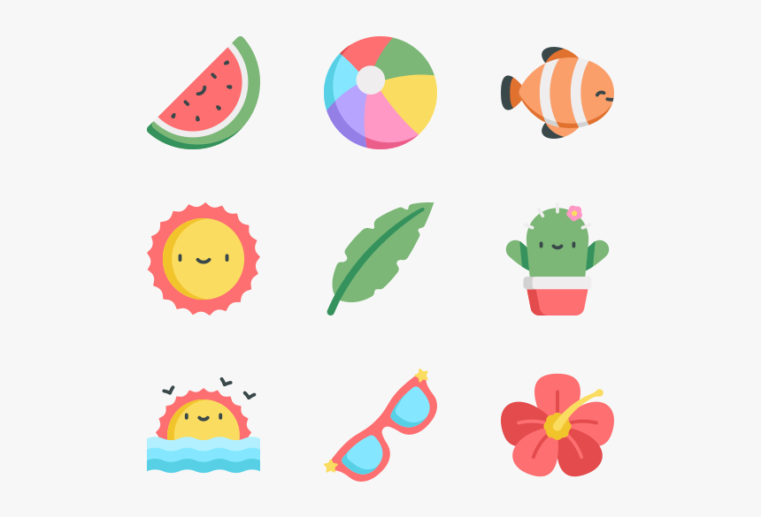 tropical summer icons png transparent png transparent png image pngitem summer icons png transparent png