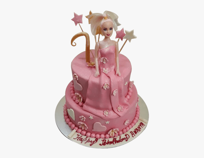 Fine Thumb Image Birthday Cake Barbie Doll Hd Png Download Funny Birthday Cards Online Barepcheapnameinfo