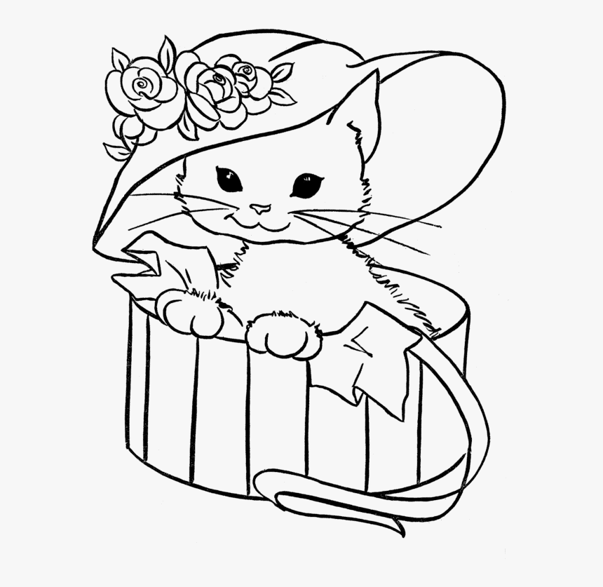 The Cat in the Hat with Flowers » Coloring Pages » Surfnetkids | 837x860