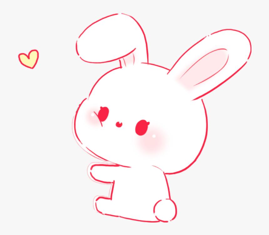 Rabbit Bunny Pink Cute Soft Aesthetic Pastel Rabbit Hd Png Download Transparent Png Image Pngitem