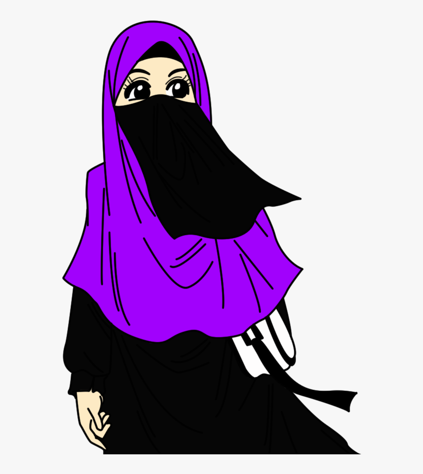 Foto Animasi Sedih Muslimah Cartoon Islamic HD