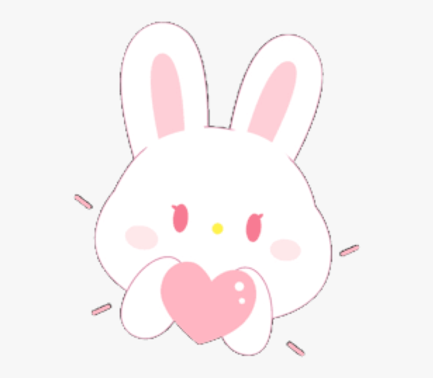 Rabbit Bunny Pink Cute Soft Aesthetic Pastel Pink