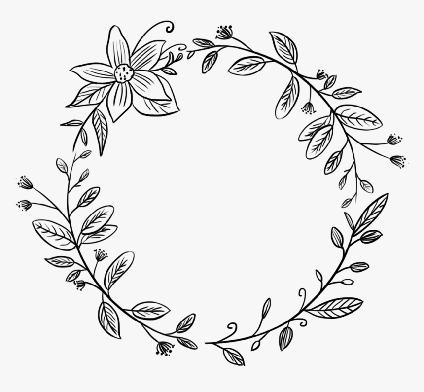 #flower #wreath #round #circle #frame #border # ...
