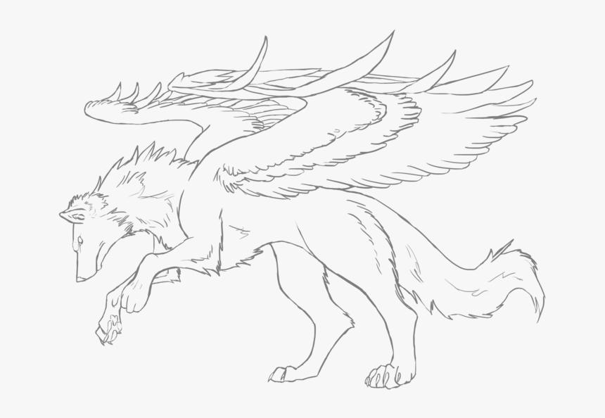 Anime Winged Wolves Coloring Pages - Coloring Book, HD Png ...