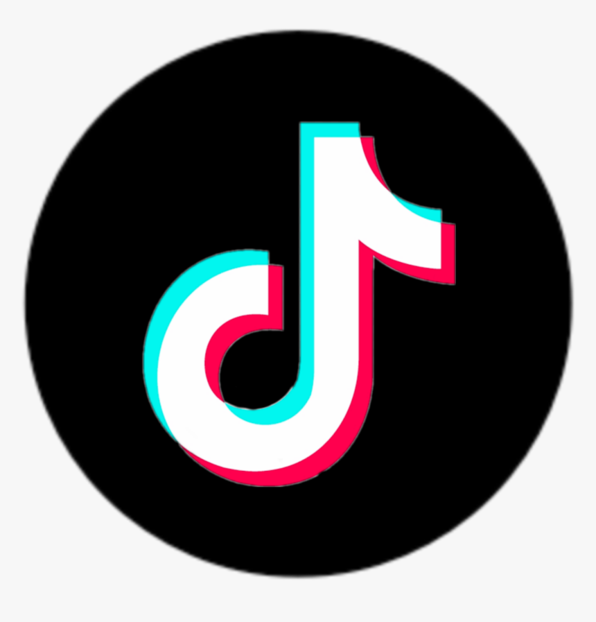 Tiktok Logo Kreis Circle Black White Black Tick Tock Logo Png Transparent Png Transparent Png Image Pngitem