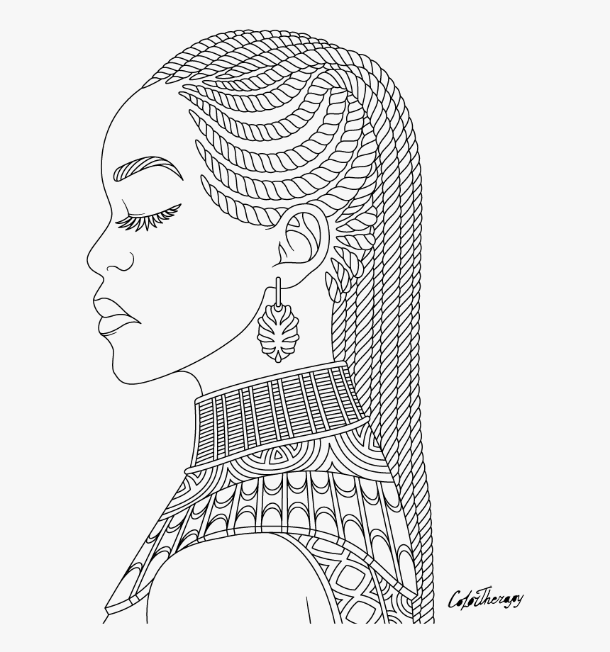 African Queen Coloring Pages Hd Png Download Transparent Png Image Pngitem