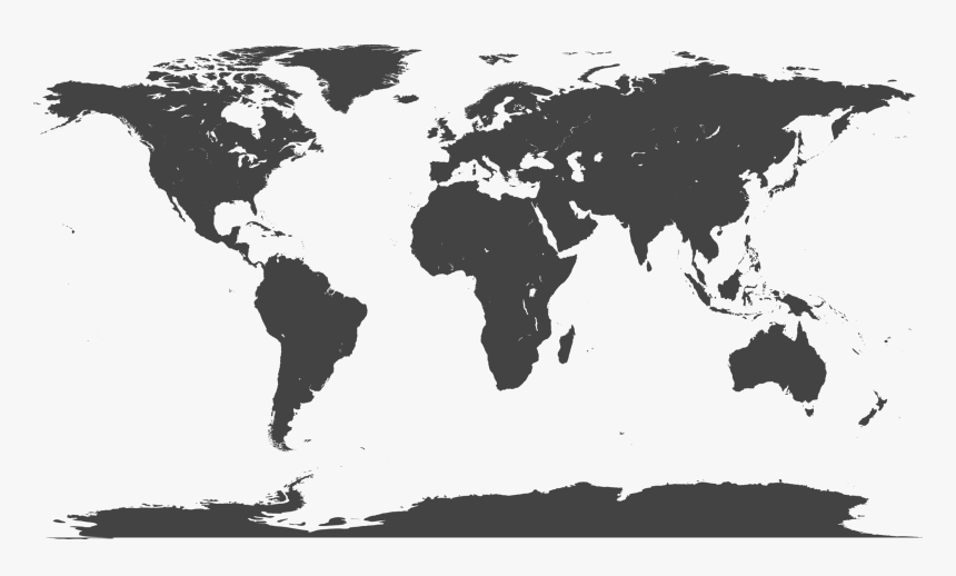 Blank Large World Map Hd Png Download Transparent Png Image
