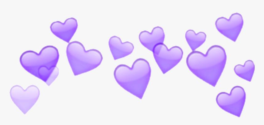 Freetoedit Purple Heart Crown Aesthetic Snapchat Heart Filter Png Transparent Png Transparent Png Image Pngitem
