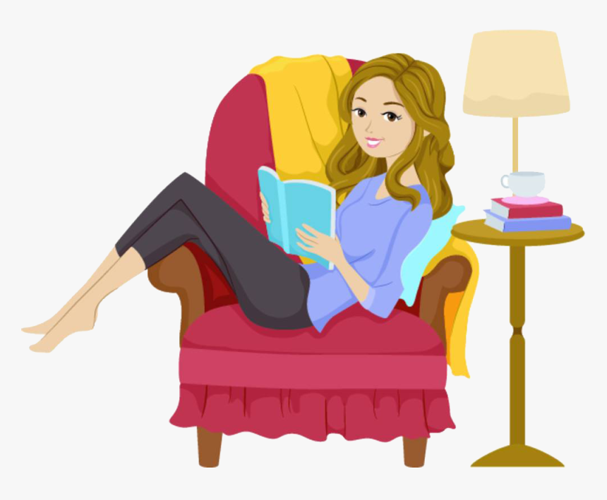 Image result for woman reading book clipart