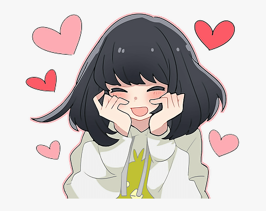 cute #kawaii #lovely #anime #blushing - Blushing Anime Girls In Love, HD  Png Download , Transparent Png Image - PNGitem