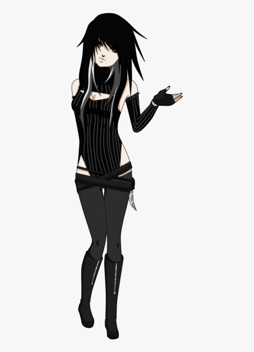 Anime Emo Girl Oc, HD Png Download , Transparent Png Image - PNGitem