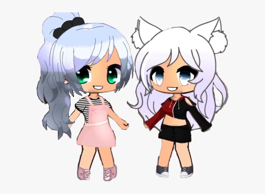Made These Two Only Out Of Stickers Im Proud Gacha Life Two Characters Hd Png Download Transparent Png Image Pngitem