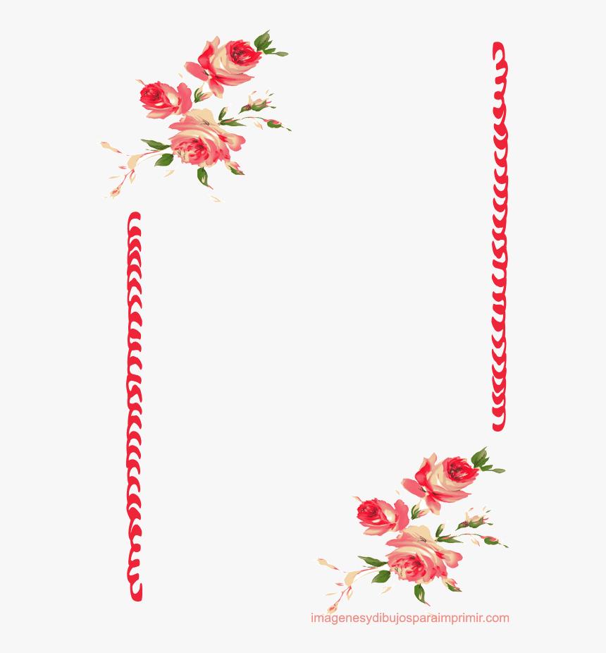 Papel Para Escribir Con Rosas Bordes De Pagina Flores Hd