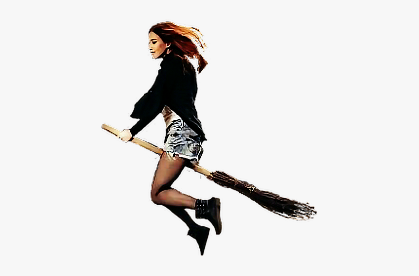 Flyingbroom Flying Girl Woman Broomstick Witch Picsart Flying Girl Png Transparent Png Transparent Png Image Pngitem