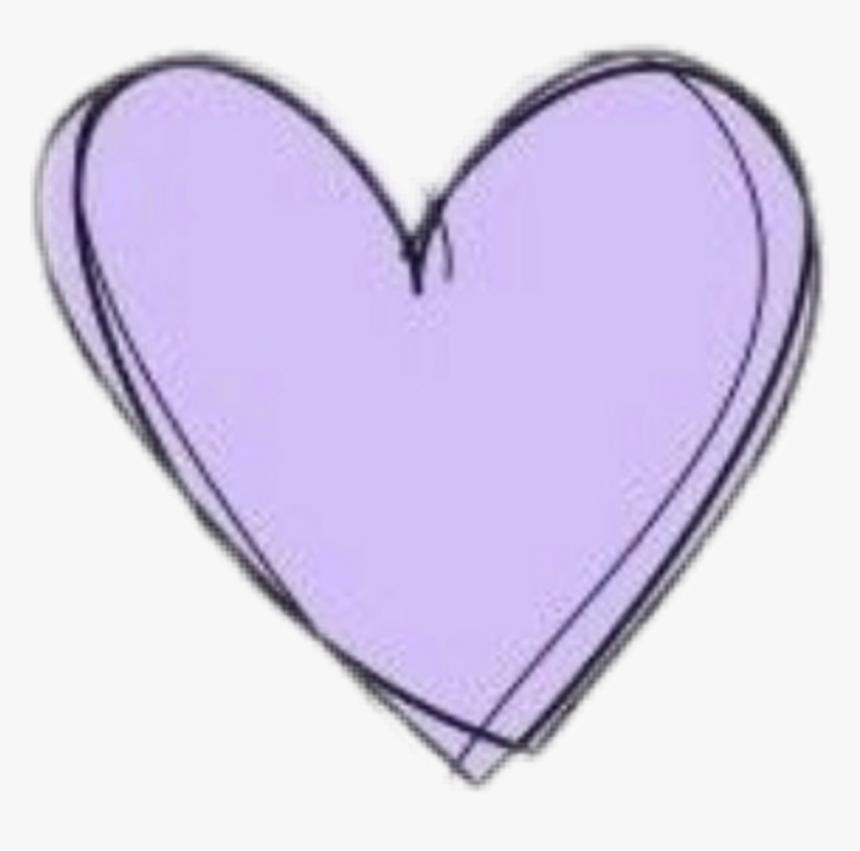 Heart Doodle Purple Pastel Cute Kawaii Aesthetic Clipart Transparent Pastel Purple Heart Hd Png Download Transparent Png Image Pngitem