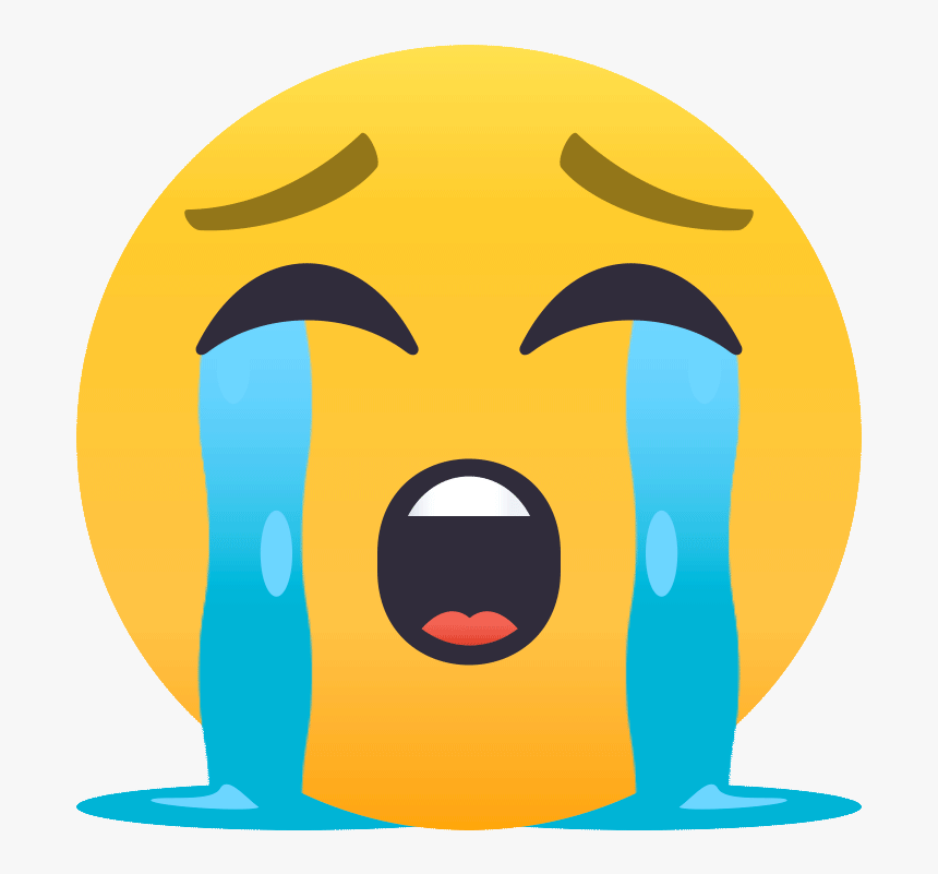 Crying Face Emoji Gif, HD Png Download , Transparent Png Image - PNGitem