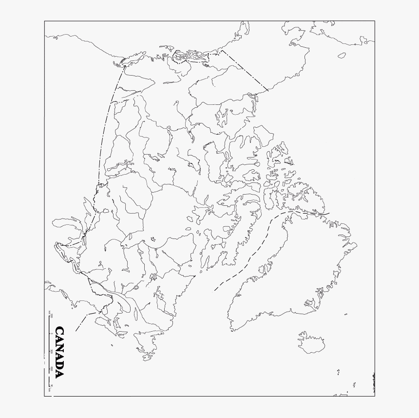 Printable Black And White Map Of Can Provinces Blank Map