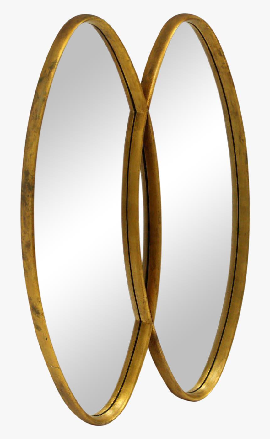 Dual Interlocking Oval Gold Frame Mirror For Sale Circle Hd Png Download Transparent Png Image Pngitem