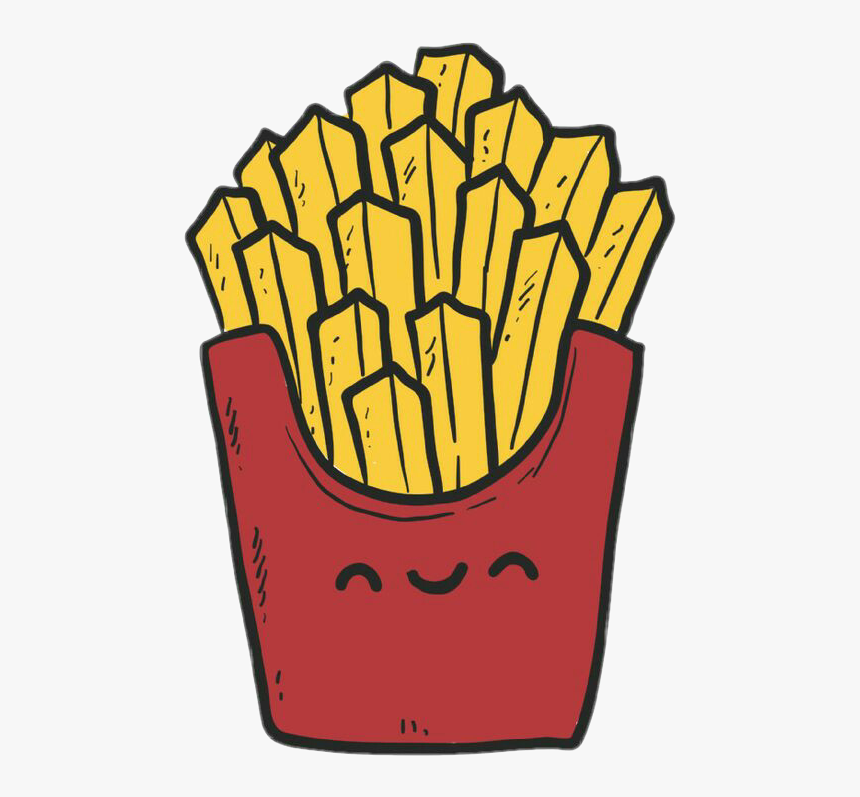 Transparent Tumblr Stickers Png - Desenhos De Batata Frita Kawaii ...