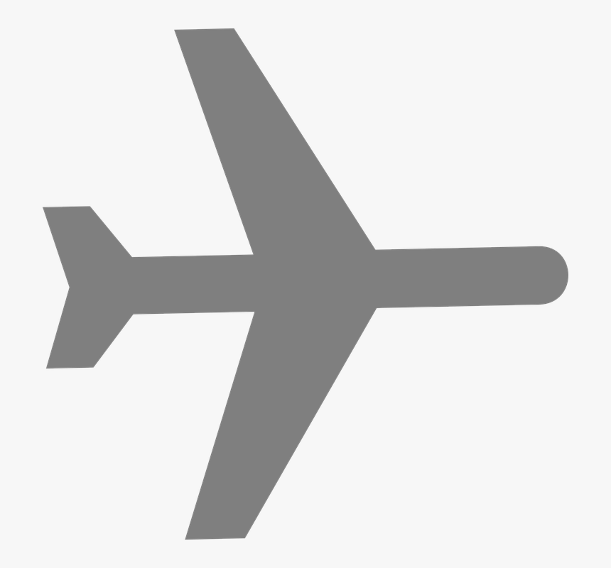 cartoon airplane silhouette png