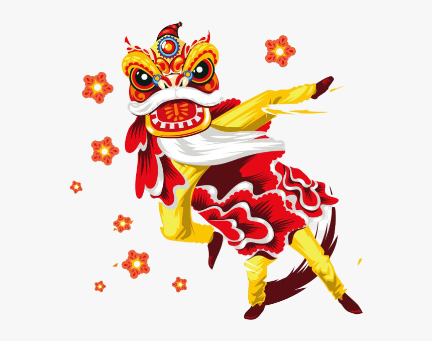 Chinese New Year Dragon Png Transparent Lion Dance Chinese New Year Vector Png Download Transparent Png Image Pngitem