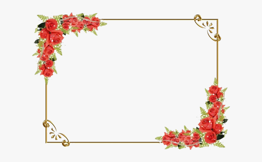 Square Flower Frame Png Clipart Transparent Flower Border Design