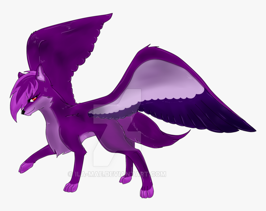 Collection Of Free Drawing Wolf Winged Download On Purple Winged