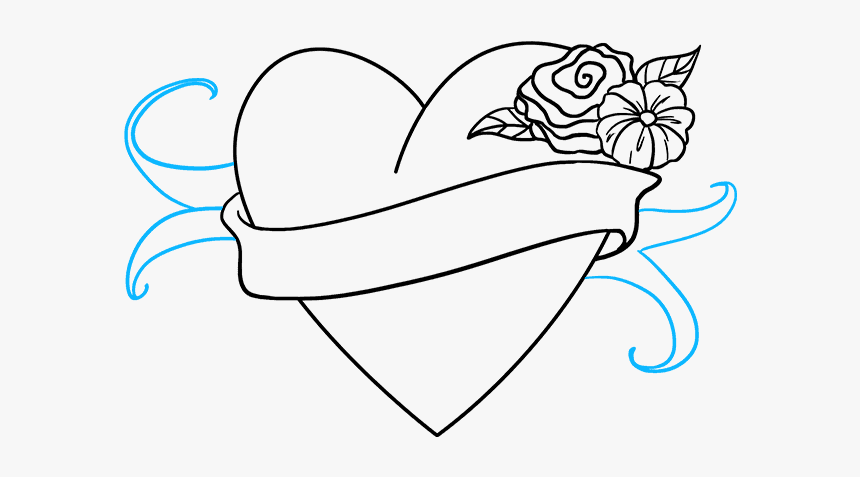 How To Draw Love Heart Easy Drawings Hd Png Download Transparent Png Image Pngitem