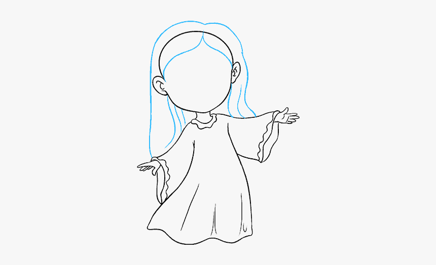 Free Library How To Draw An Angel In A Few Easy Steps Beginner Easy Drawing Angel Hd Png Download Transparent Png Image Pngitem