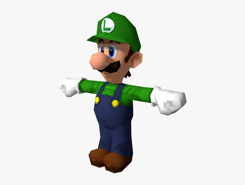Download Zip Archive Super Mario 64 Ds Luigi Model Hd Png Download Transparent Png Image Pngitem