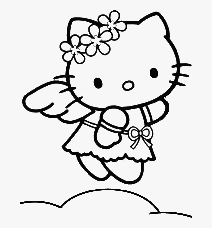 Valentine's Day Hello Kitty coloring page | Free Printable ... | 924x860