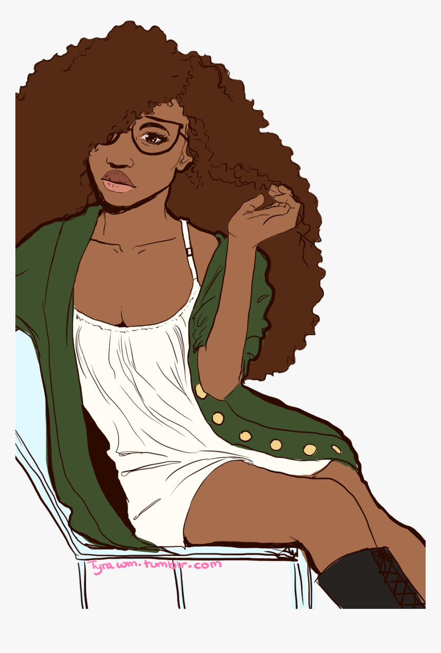Hair afro girl black cartoon with Top 10
