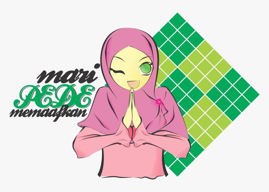 Galeri Gambar Kartun Muslim Lebaran Phontekno Animasi Kartun Muslimah Idul Fitri Hd Png Download Transparent Png Image Pngitem