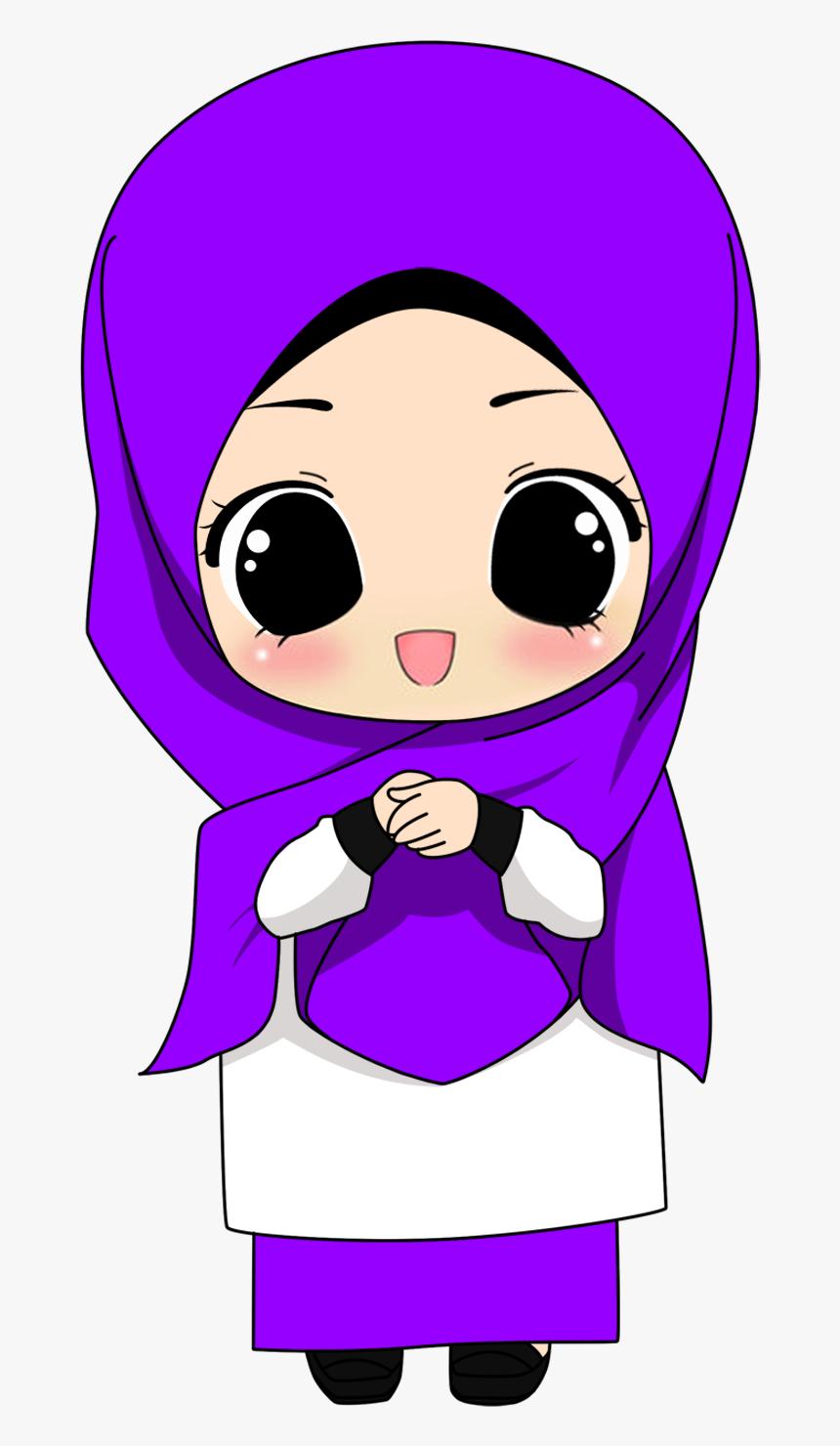 Hijab Cartoon Transparent Transparent Image