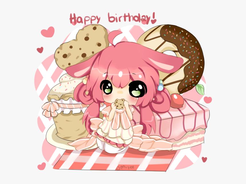 Love Cute Birthday Kawaii Girl Anime Chibi Happy Birthday Cute Anime Hd Png Download Transparent Png Image Pngitem