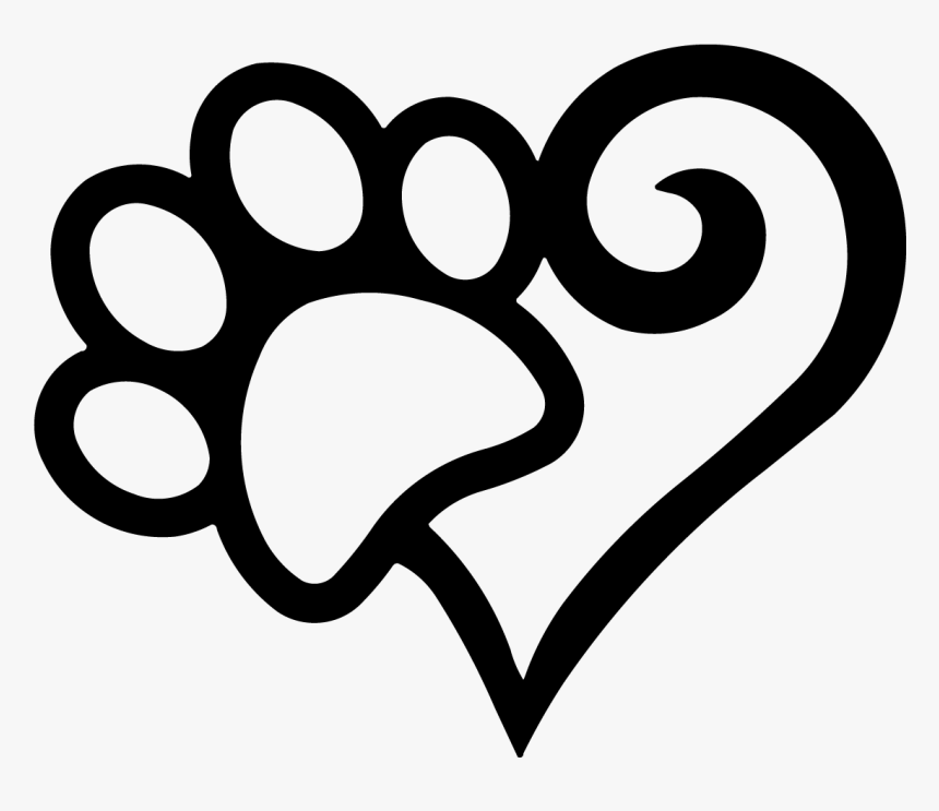 Heart Dog Paw Print Silhouette Hd Png Download Transparent Png Image Pngitem Are you searching for cat paw png images or vector? heart dog paw print silhouette hd png